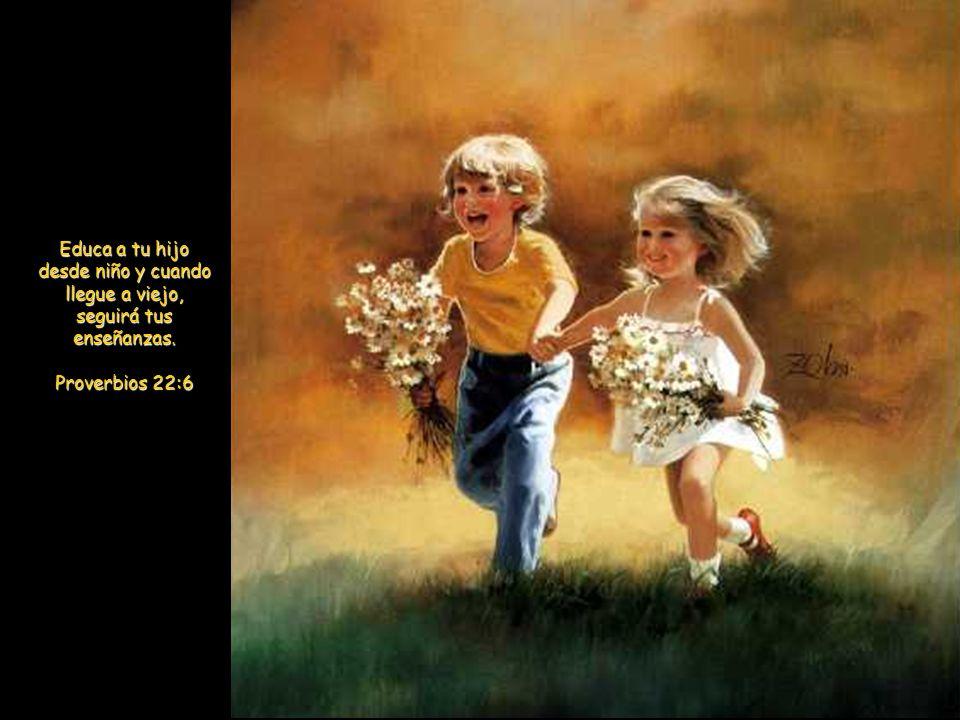 Y dijo también: «Dejad que los niños se acerquen a mí: no se lo impidáis; de los que son como ellos es el Reino de los cielos.» Y llamando Jesús a un