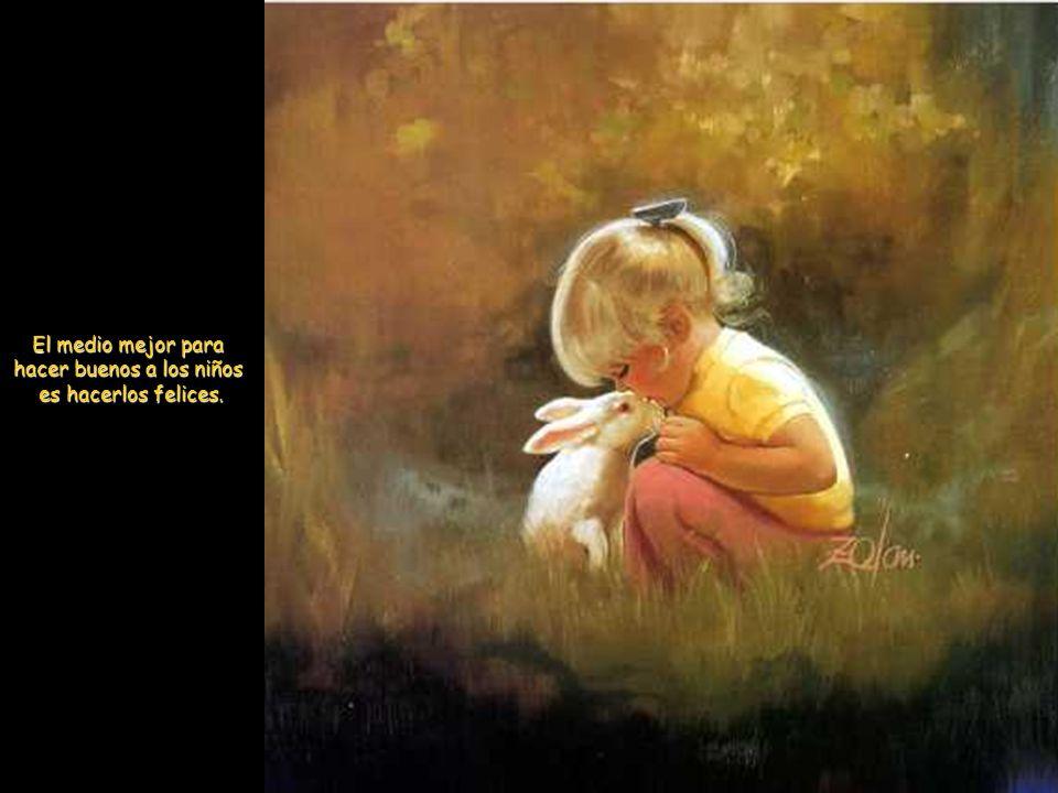 El mejor olor, el del pan; el mejor sabor, el de la sal; el mejor amor, el de los niños.