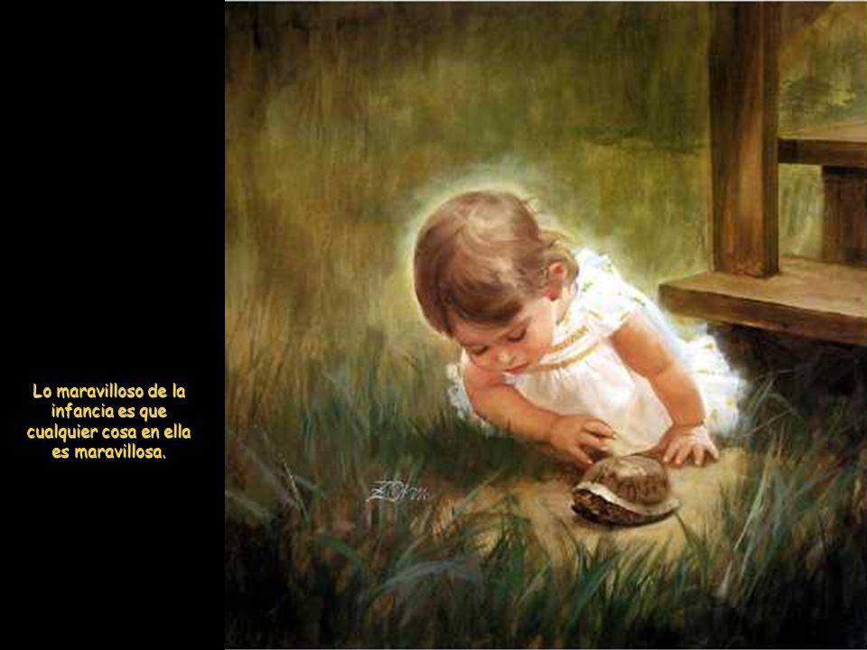 Y dijo también: «Dejad que los niños se acerquen a mí: no se lo impidáis; de los que son como ellos es el Reino de los cielos.» Y llamando Jesús a un niño, lo puso en medio de ellos, y dijo: En verdad os digo, que si no os hacéis como niños, no entraréis en el reino de los cielos.