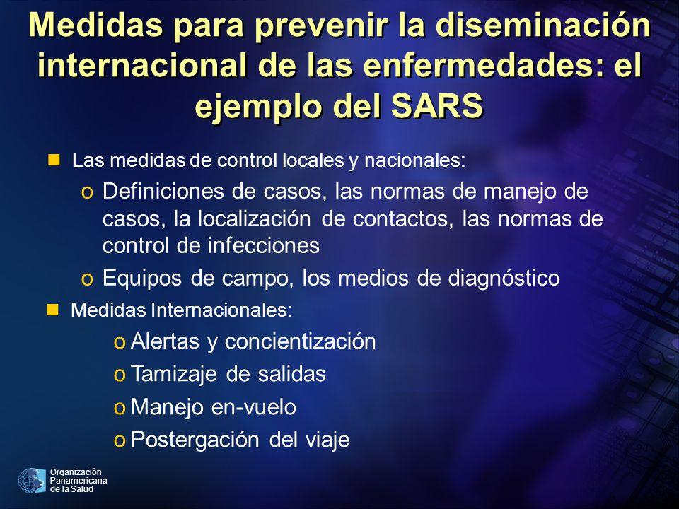Organización Panamericana de la Salud Medidas para prevenir la diseminación internacional de las enfermedades: el ejemplo del SARS nMedidas Internacio