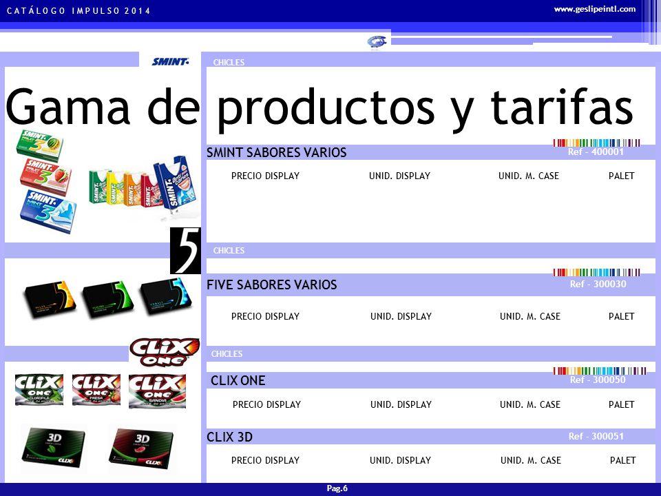C A T Á L O G O I M P U L S O 2 0 1 4 Gama de productos y tarifas PATATAS FRITAS PATATAS SURTIDAS TAMAÑO GRANDE Ref - 800001 PRECIO DISPLAYUNID.