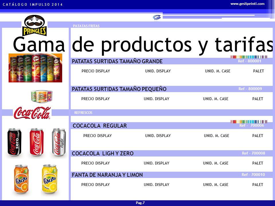 C A T Á L O G O I M P U L S O 2 0 1 4 Gama de productos y tarifas REFRESCOS NESTEA NARANJA Y LIMON Ref - 700012 PRECIO DISPLAYUNID.