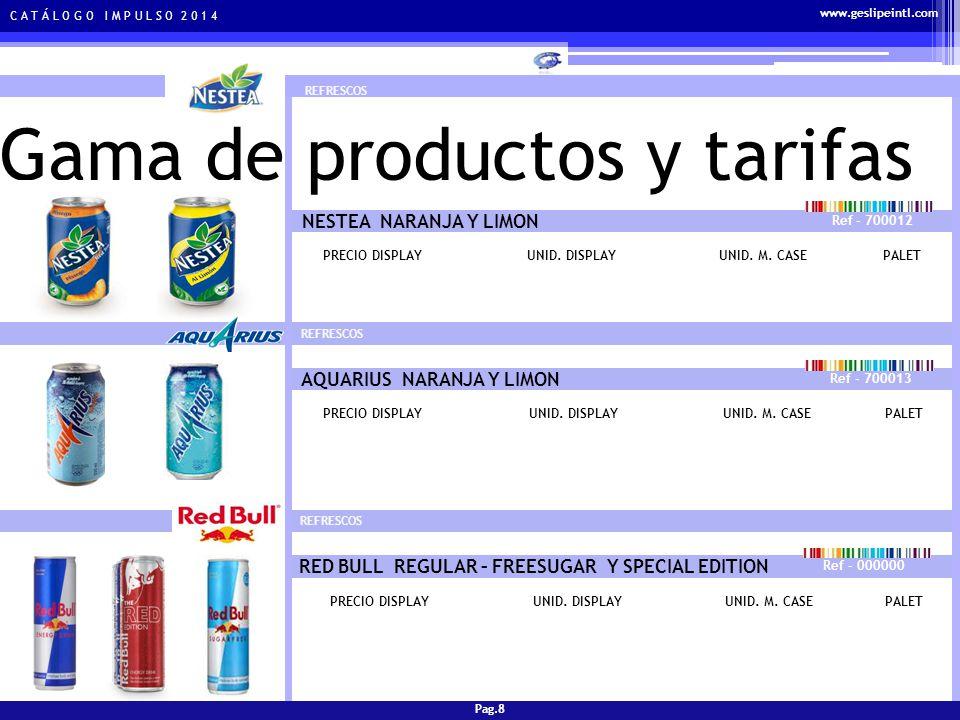 C A T Á L O G O I M P U L S O 2 0 1 4 Gama de productos y tarifas CERVEZAS SAN MIGUEL CLASICA Ref - 700016 PRECIO DISPLAYUNID.