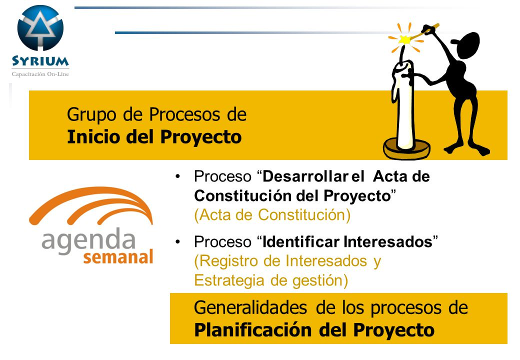 Rosario Morelli, PMP Procesos de Inicio y límites del proyecto Procesos de Inicio Procesos de Cierre Procesos de Planificación Procesos de Ejecución Procesos de Seguimiento y Control Límites del proyecto Entregables Entradas al proy.