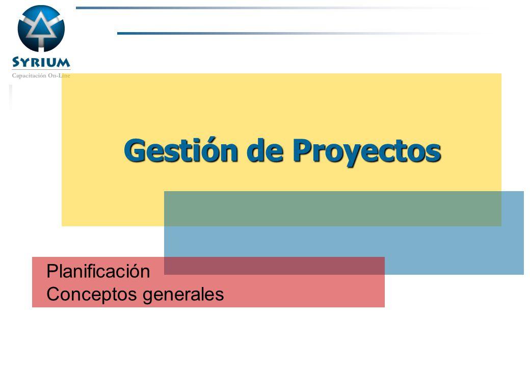 Rosario Morelli, PMP Gestión de Proyectos Planificación Conceptos generales