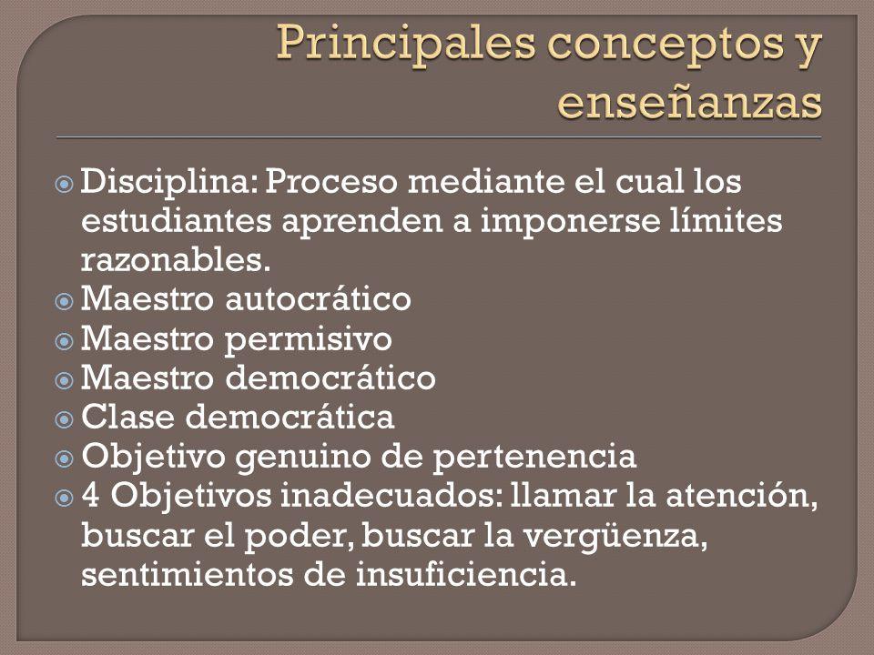 Concepto e importancia de pertenencia. Objetivo genuino para prevenir indisciplina. Educador democrático y aula democrática.