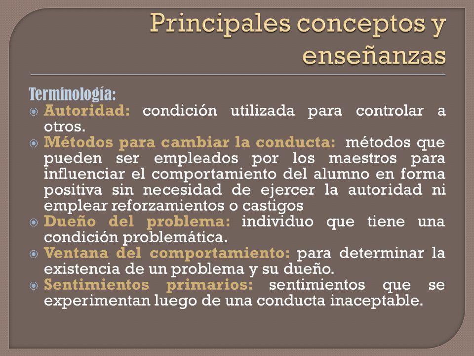 Desarrollo de responsabilidad y autocontrol Disciplina se logra en el interior de cada individuo. El autocontrol es la única disciplina efectiva. Pote
