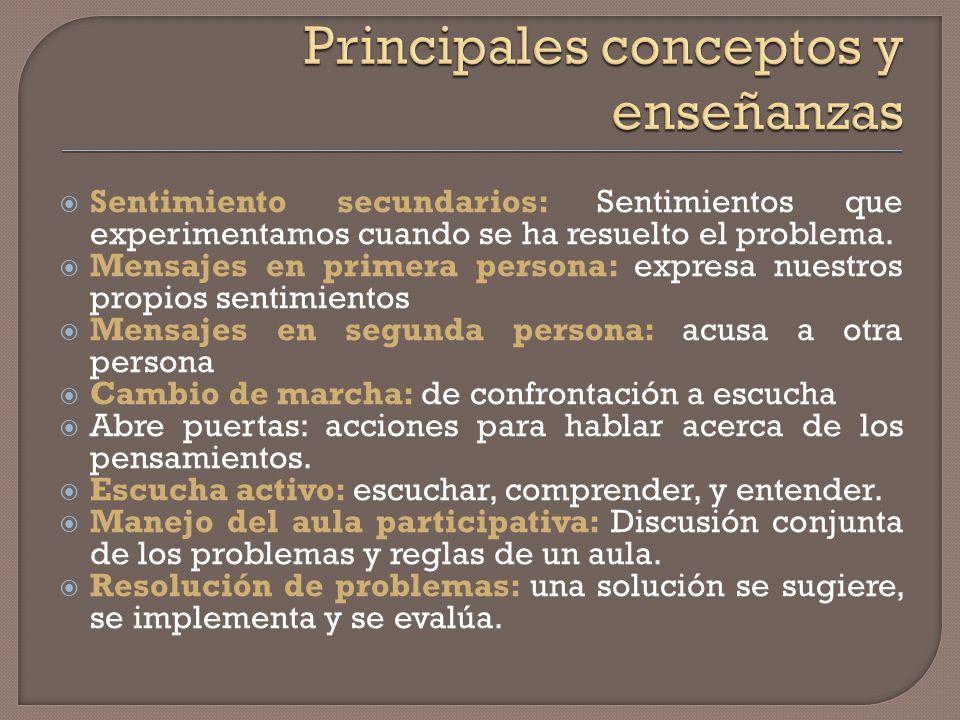 Terminología: Autoridad: condición utilizada para controlar a otros. Métodos para cambiar la conducta: métodos que pueden ser empleados por los maestr
