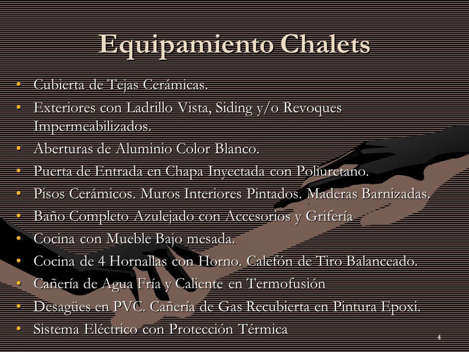 4 Equipamiento Chalets Cubierta de Tejas Cerámicas.Cubierta de Tejas Cerámicas.