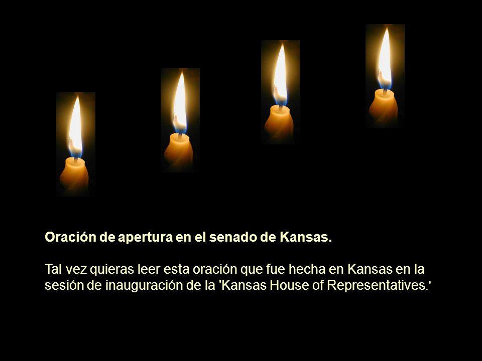 Oración de apertura en el senado de Kansas.