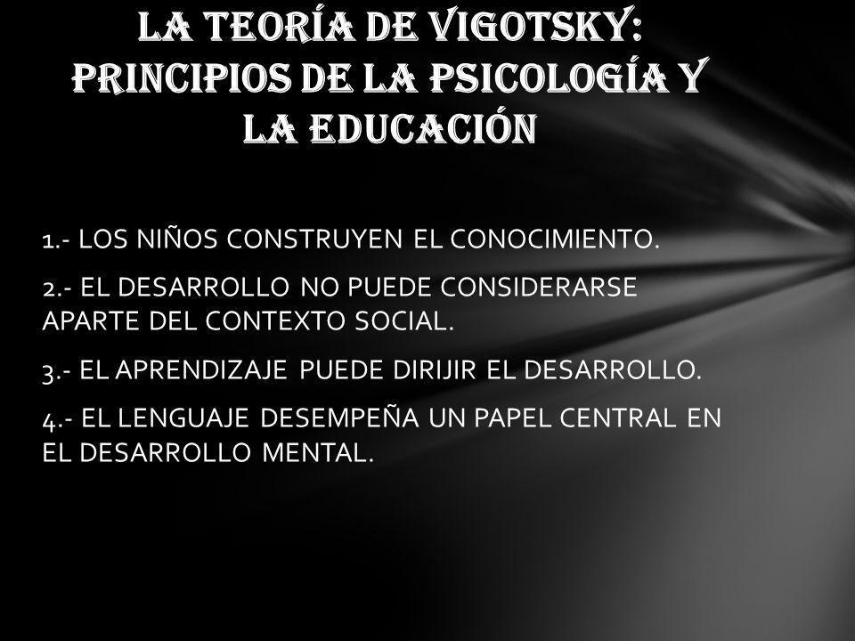 1.- LOS NIÑOS CONSTRUYEN EL CONOCIMIENTO.