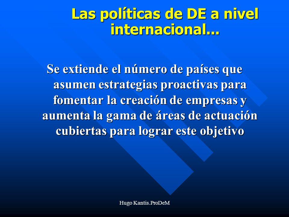 Hugo Kantis.ProDeM Las políticas de DE a nivel internacional...