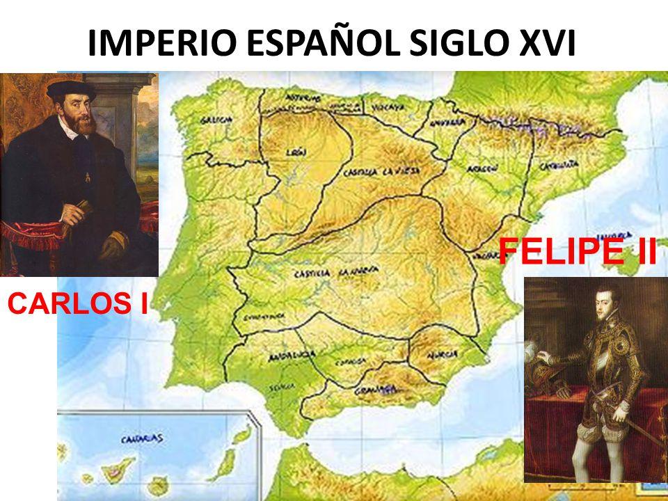 IMPERIO ESPAÑOL SIGLO XVI CARLOS I FELIPE II