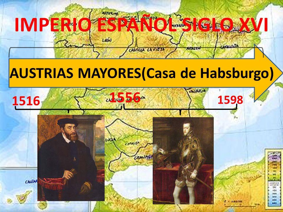 IMPERIO ESPAÑOL SIGLO XVI AUSTRIAS MAYORES(Casa de Habsburgo) 1516 1556 1598