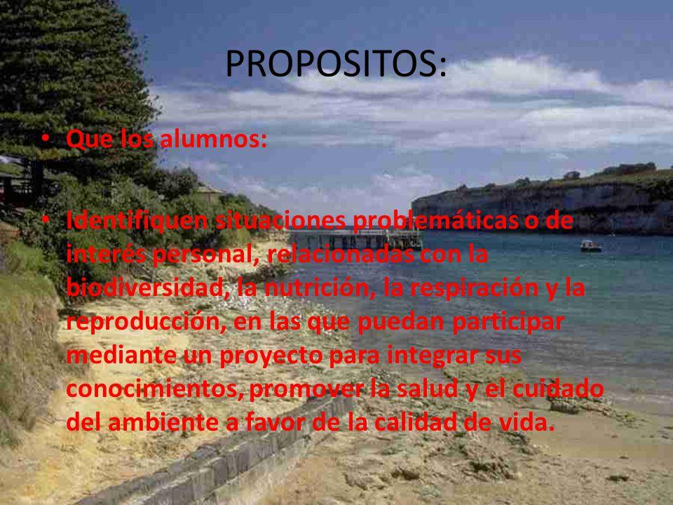 PROYECTOS CIENCIAS 1 BLOQUE V SALUD, AMBIENTE Y CALIDAD DE VIDA