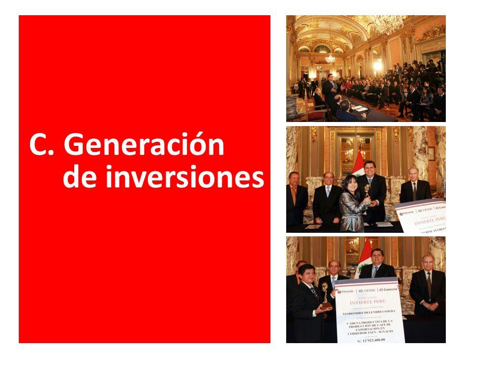 C. Generación de inversiones