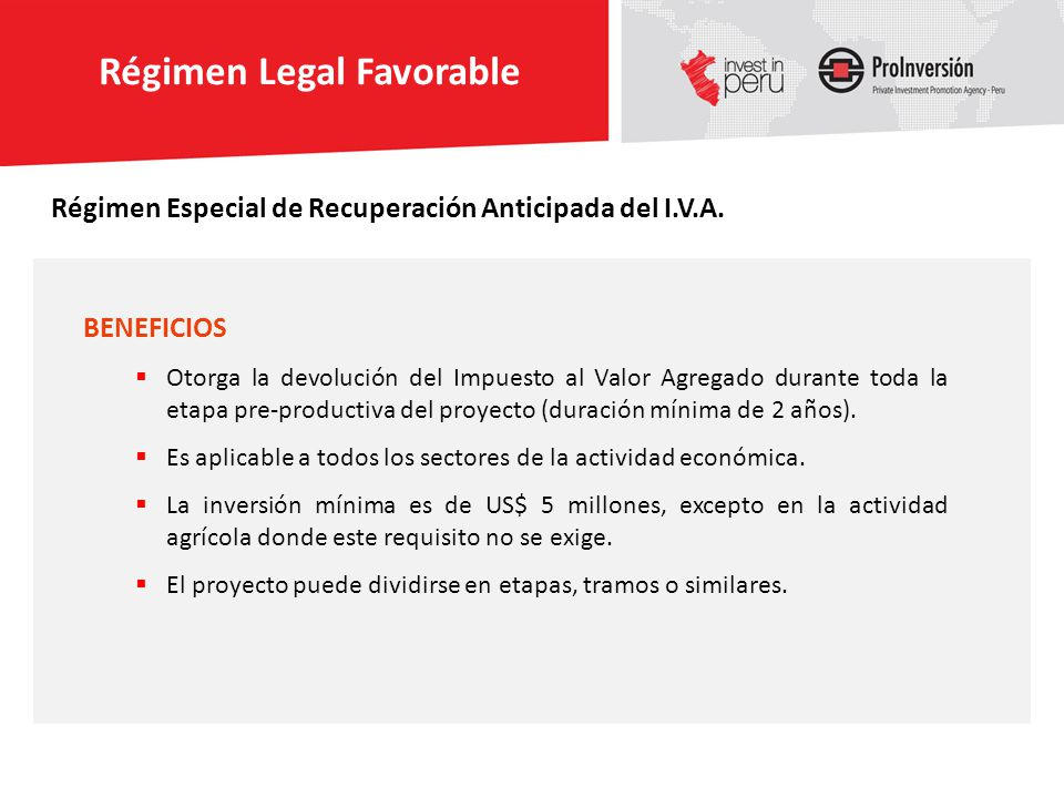 El Perú ha firmando Acuerdos Bilaterales de Inversión y Tratados de Libre Comercio que consolidan nuestra política de apertura.