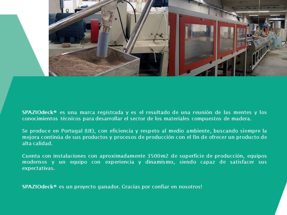 SPAZIOdeck® es una marca registrada y es el resultado de una reunión de las mentes y los conocimientos técnicos para desarrollar el sector de los mate