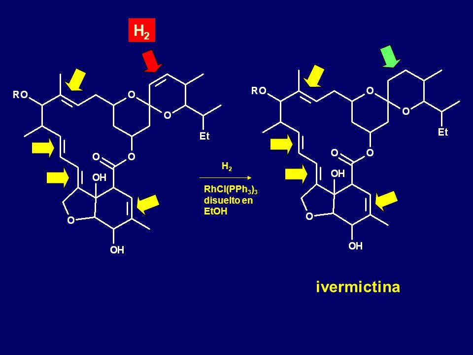 ivermictina H2H2 RhCl(PPh 3 ) 3 disuelto en EtOH H2H2