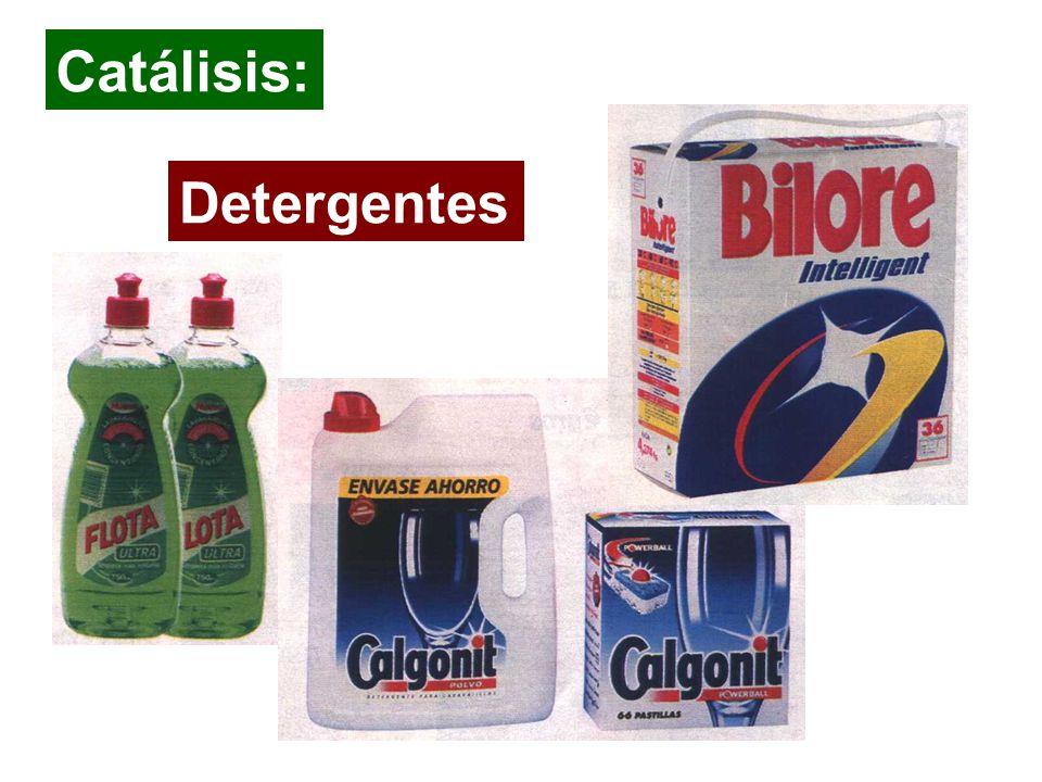 Detergentes Catálisis: