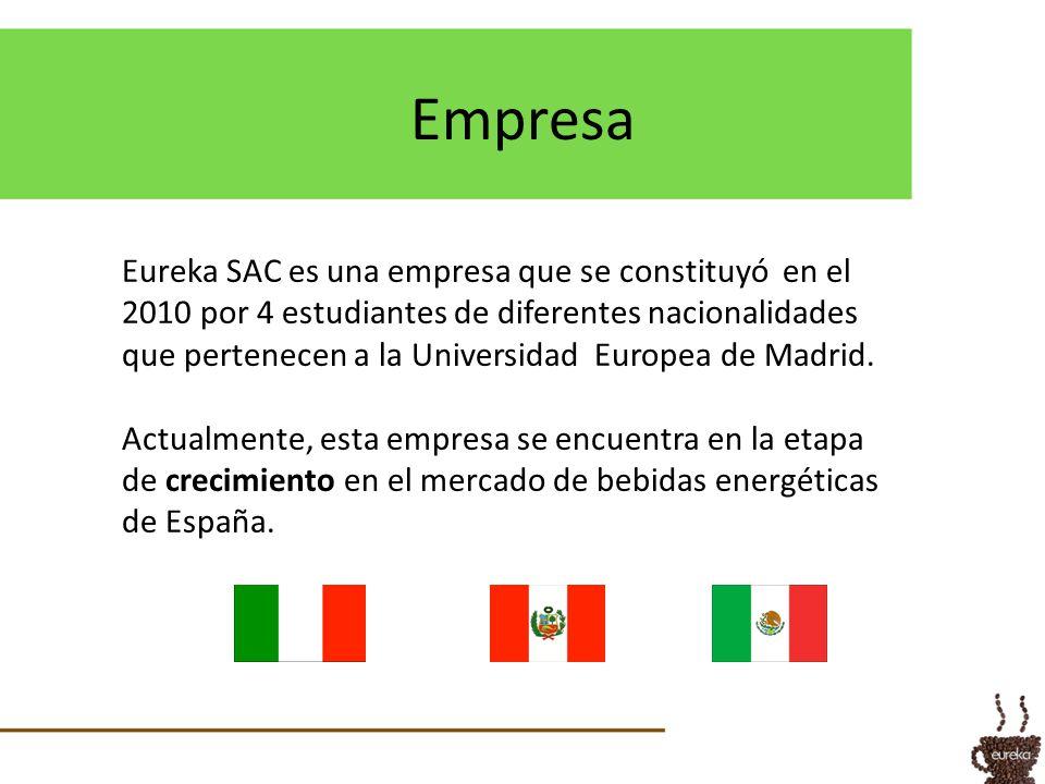 Empresa Eureka SAC es una empresa que se constituyó en el 2010 por 4 estudiantes de diferentes nacionalidades que pertenecen a la Universidad Europea