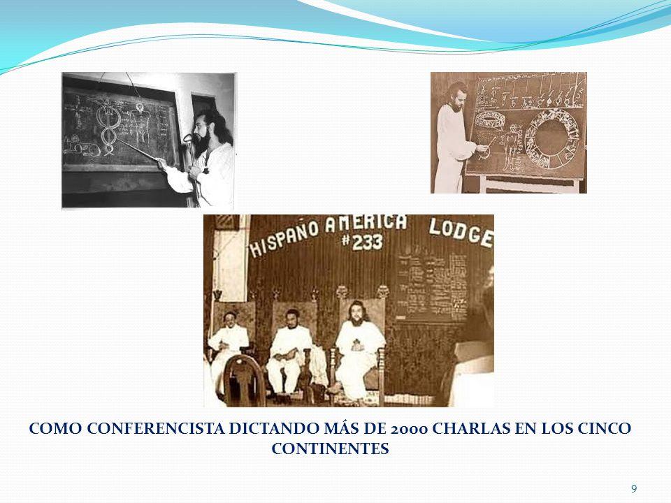 COMO CONFERENCISTA DICTANDO MÁS DE 2000 CHARLAS EN LOS CINCO CONTINENTES 9