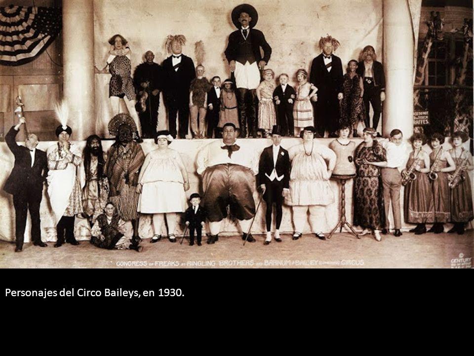 Personajes del Circo Baileys, en 1930.