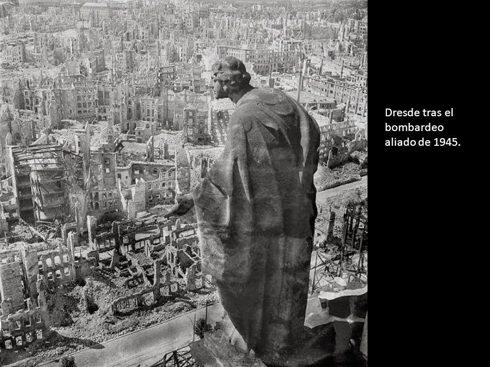 Dresde tras el bombardeo aliado de 1945.