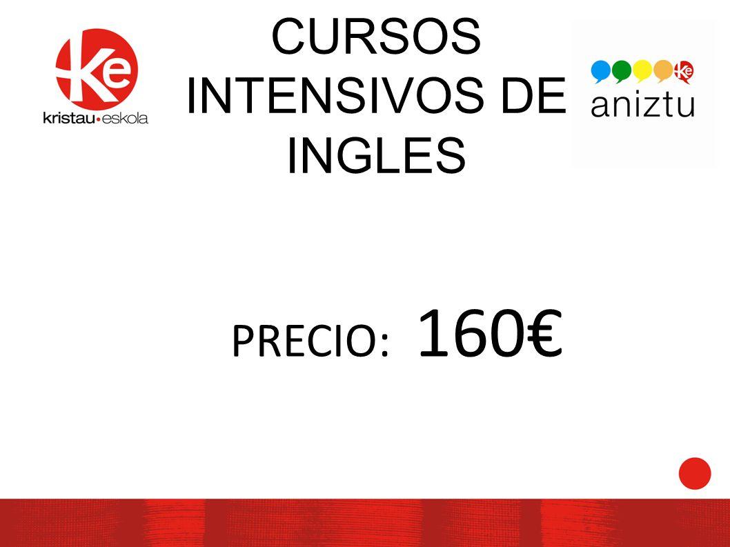 CURSOS INTENSIVOS DE INGLES PRECIO: 160