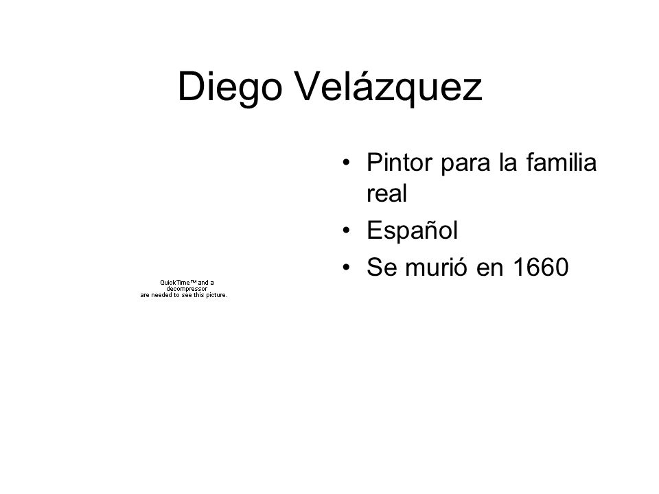 Diego Velázquez Pintor para la familia real Español Se murió en 1660
