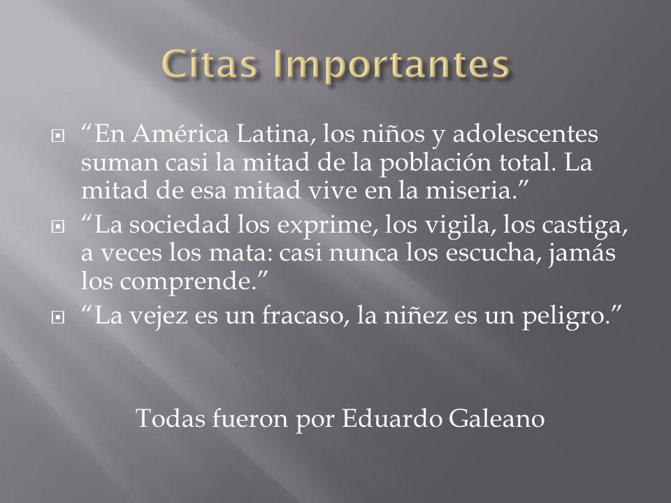 En América Latina, los niños y adolescentes suman casi la mitad de la población total.