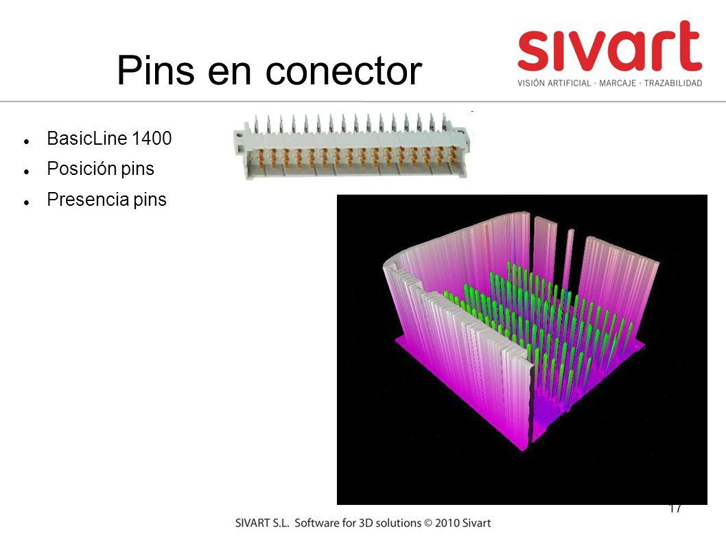 17 Pins en conector BasicLine 1400 Posición pins Presencia pins