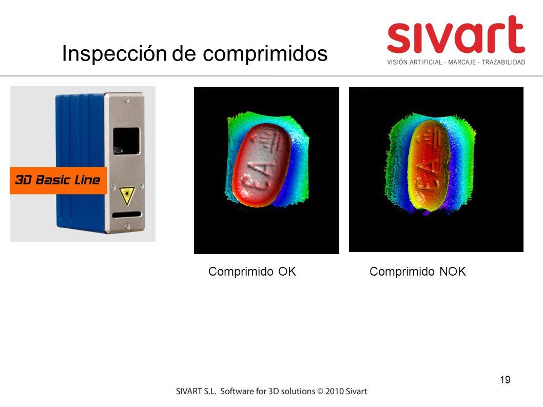 19 Inspección de comprimidos Comprimido OKComprimido NOK