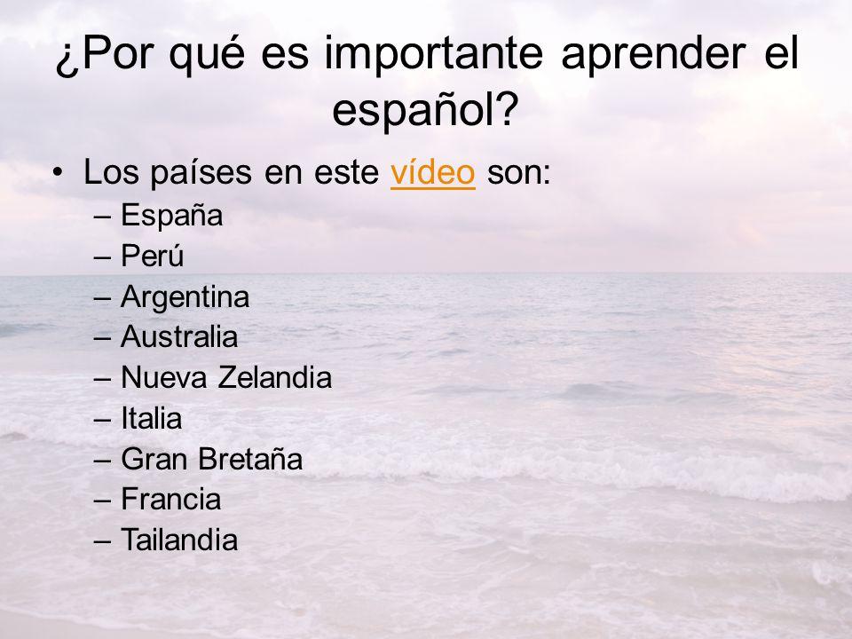 ¿Por qué es importante aprender el español.