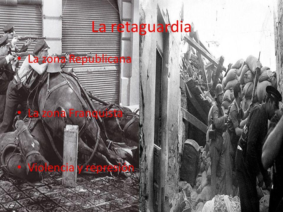 La retaguardia La zona Republicana La zona Franquista Violencia y represión
