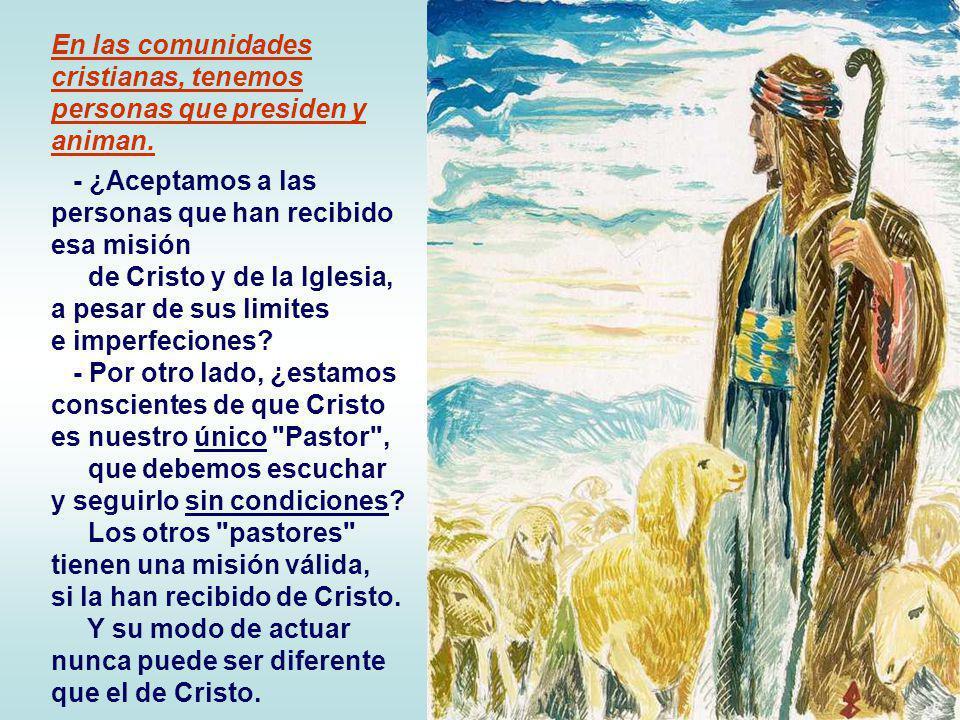 + Las ovejas deben escuchar la voz del Pastor y seguirlo… Eso significa adherirse a Jesús, recorrer el mismo camino que Él, en la entrega total a los