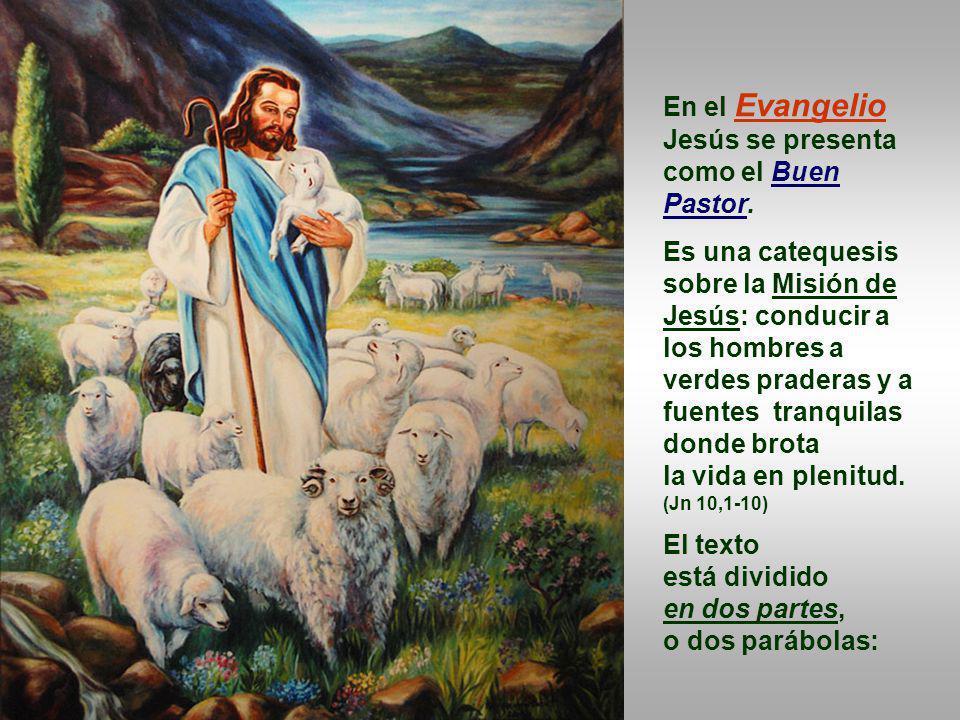 En la 1ª y 2ª Letura, Pedro explica cómo entrar por la Puerta, o escuchar la voz del Pastor: mediante la conversión y el Bautismo (Hch.2,14a.36-41), y