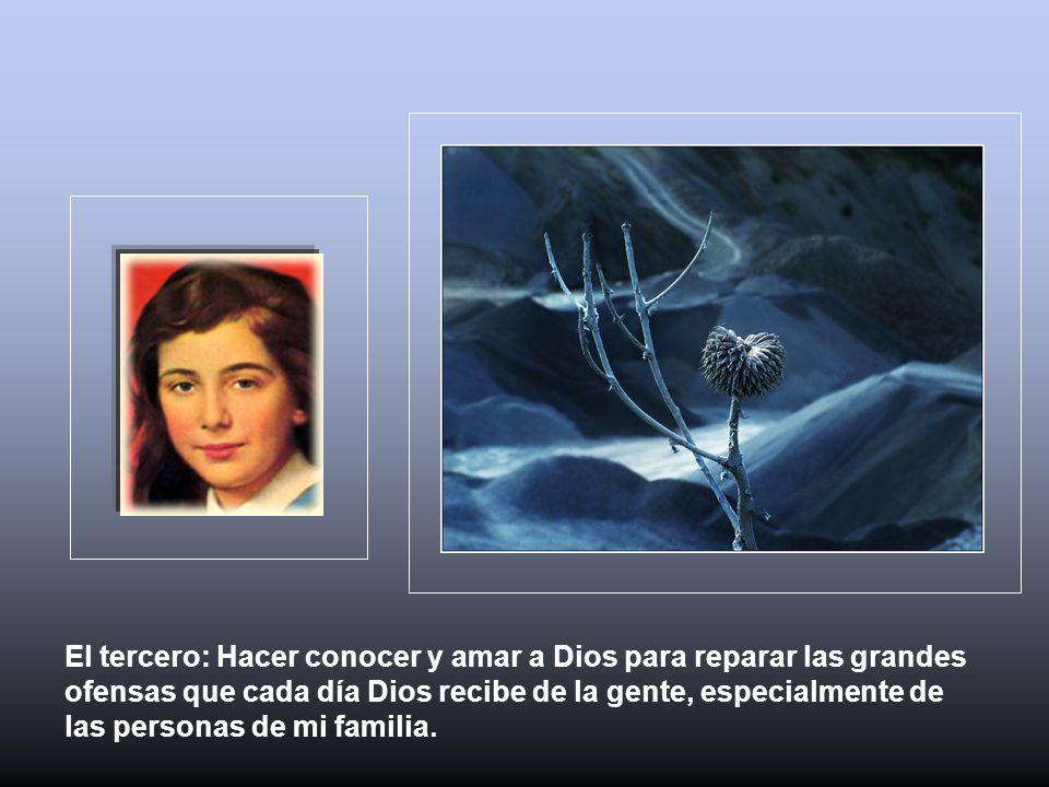 Su confianza en la ayuda de María y en la misericordia del Sagrado Corazón la animaban en la exigencias para el triunfo de la gracia y se ofreció en holocausto a Jesús y a su Madre, María.