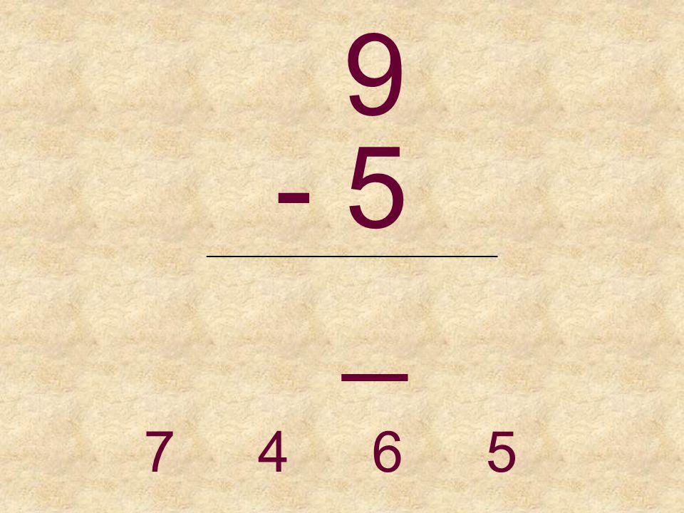 8 - 5 _______________________________ 3