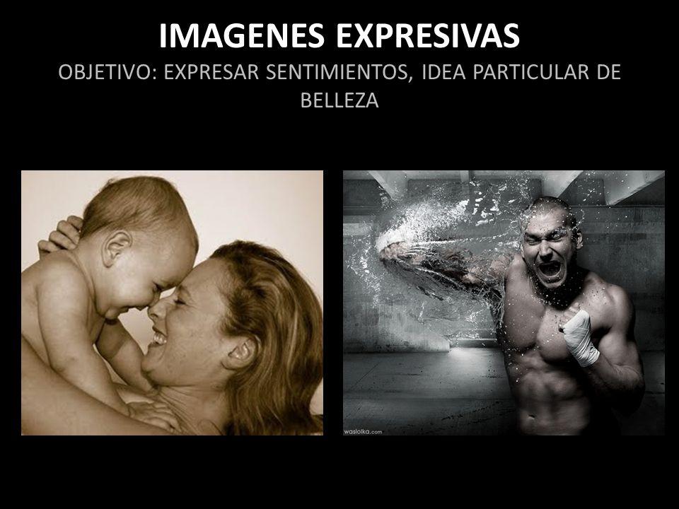 IMAGENES EXPRESIVAS OBJETIVO: EXPRESAR SENTIMIENTOS, IDEA PARTICULAR DE BELLEZA