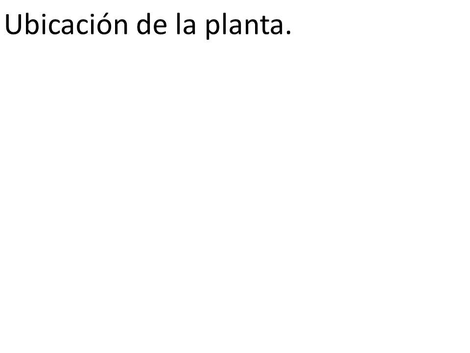 Ubicación de la planta.