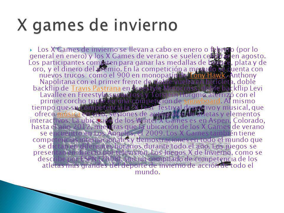 Los primeros Juegos de Invierno de los X Games se llevaron a cabo en Mountain Resort en Big Bear Lake, California, en 1997.