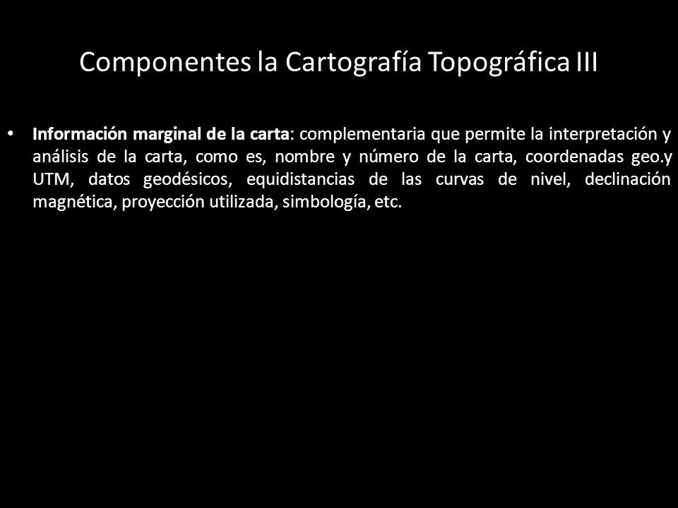 Lectura de Cartas Topográficas Curvas de Nivel: muestran la elevación.