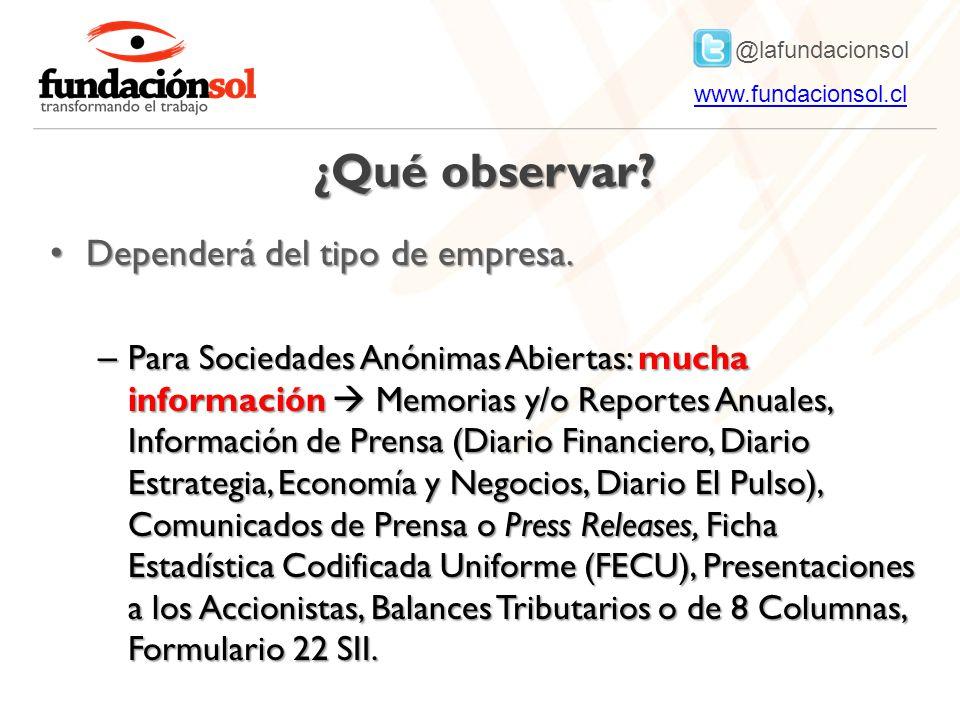 @lafundacionsol www.fundacionsol.clwww.fundacionsol.cl ¿Qué observar.