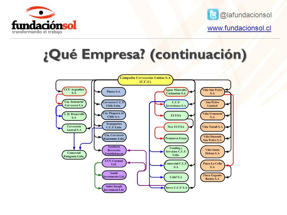 @lafundacionsol www.fundacionsol.clwww.fundacionsol.cl ¿Qué Empresa? (continuación)