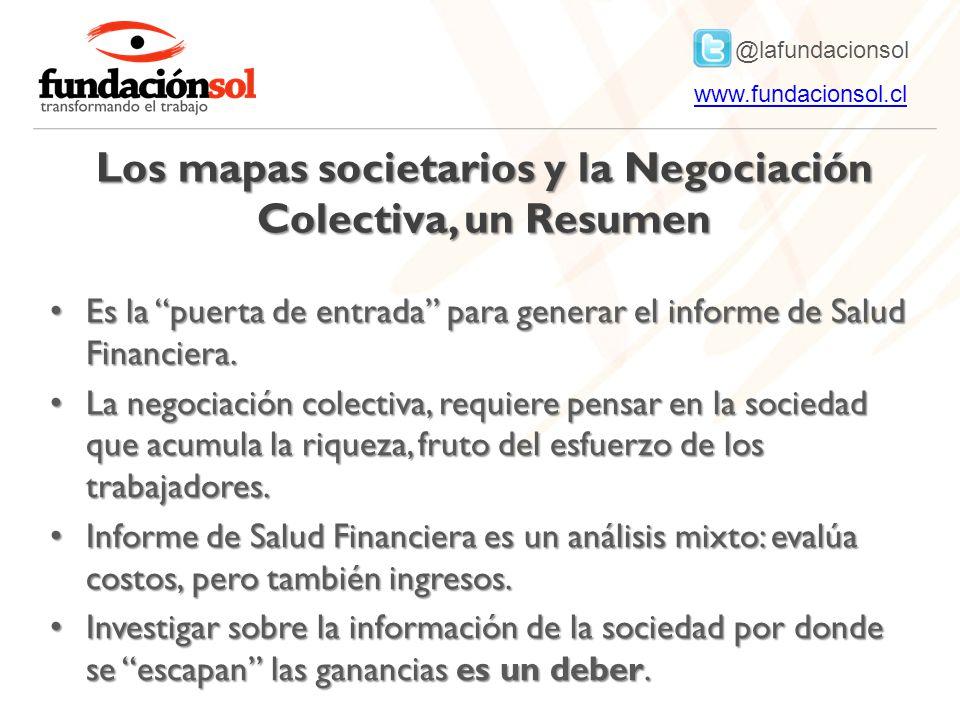 @lafundacionsol www.fundacionsol.clwww.fundacionsol.cl Los mapas societarios y la Negociación Colectiva, un Resumen Es la puerta de entrada para generar el informe de Salud Financiera.