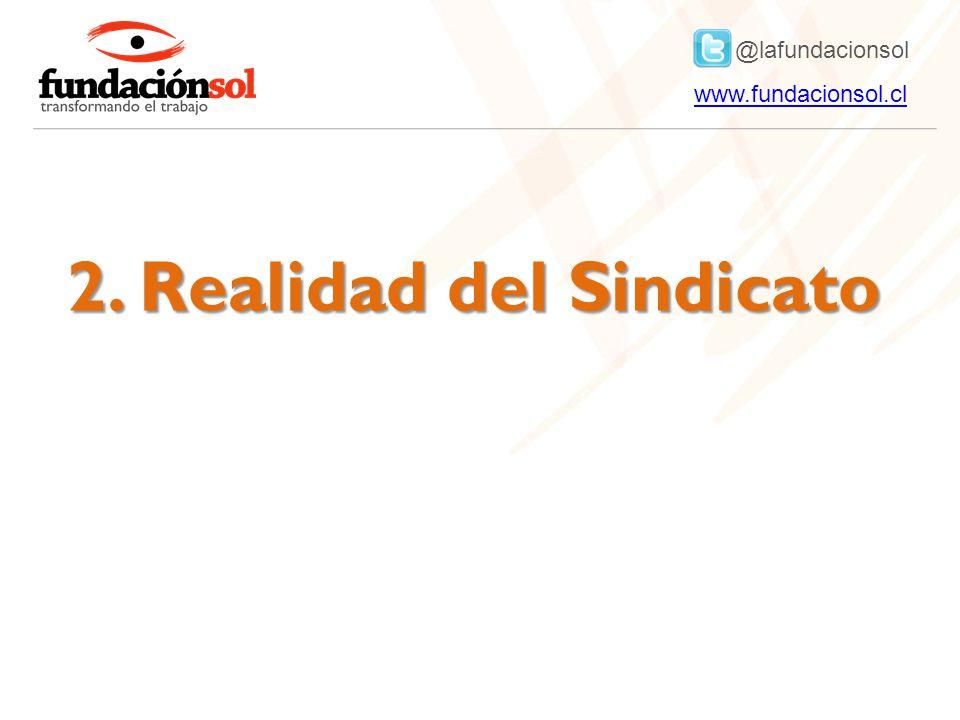 @lafundacionsol www.fundacionsol.clwww.fundacionsol.cl 2. Realidad del Sindicato