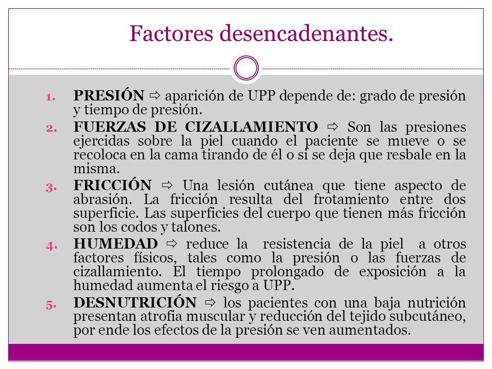 Factores desencadenantes.1.