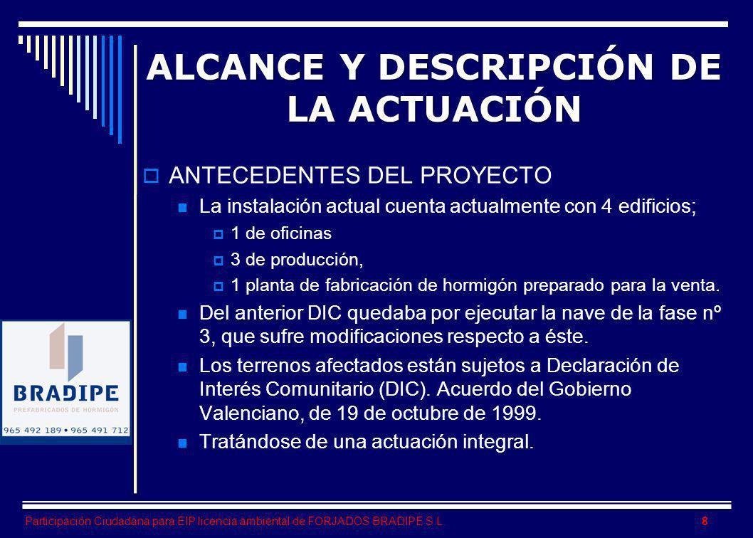 Participación Ciudadana para EIP licencia ambiental de FORJADOS BRADIPE S.L.
