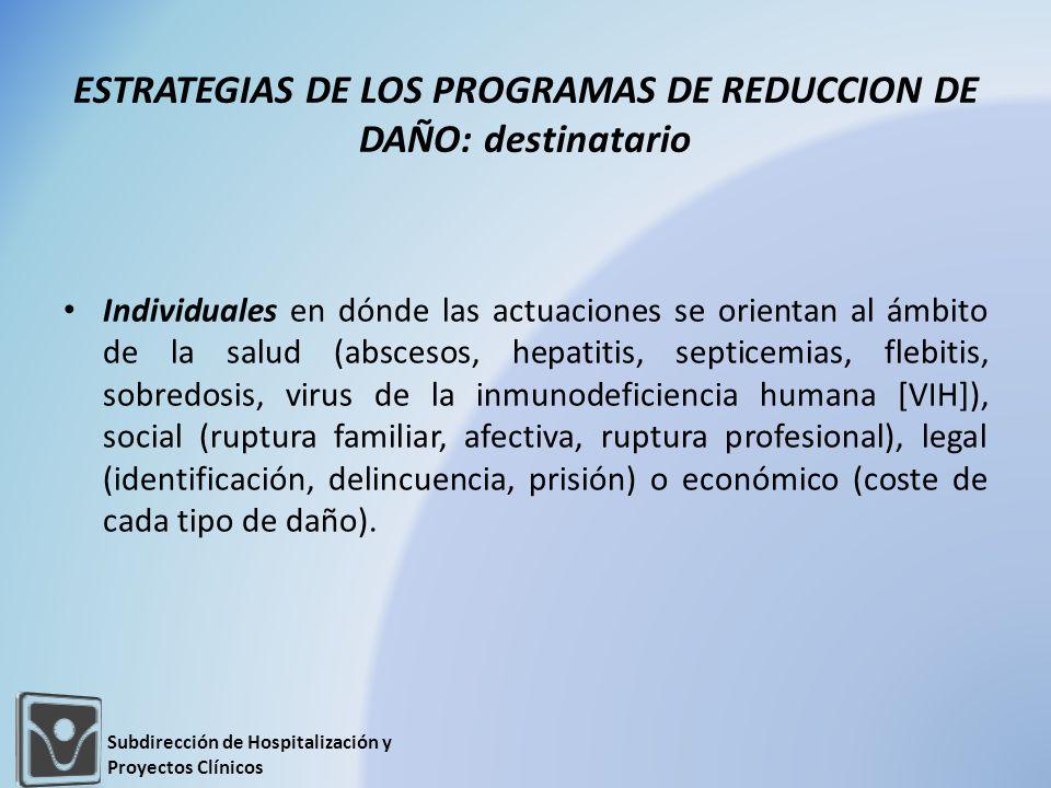 COMPARATIVO DE ATENCIÓN Subdirección de Hospitalización y Proyectos Clínicos